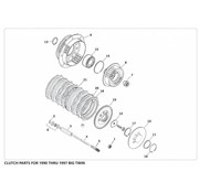 primary clutch parts 1990 - 1997 Big Twin