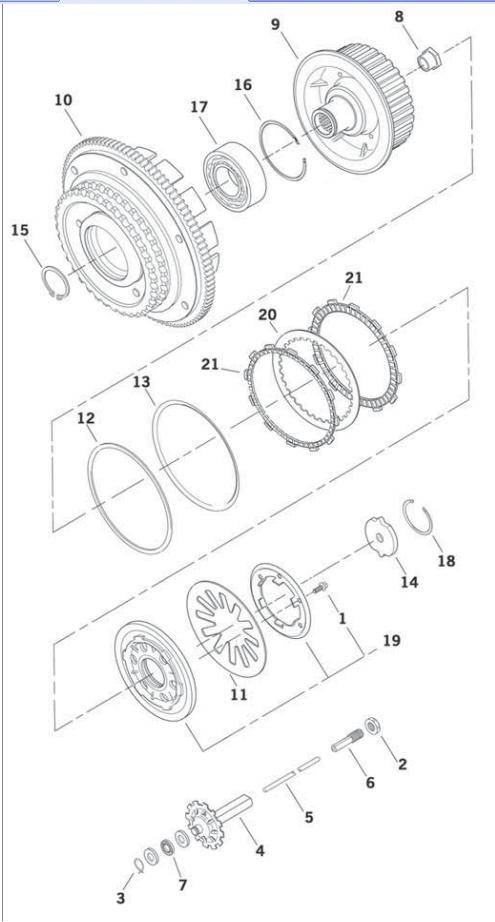 Primary Clutch Parts 1998 1999 Evo Big Twin And 1999