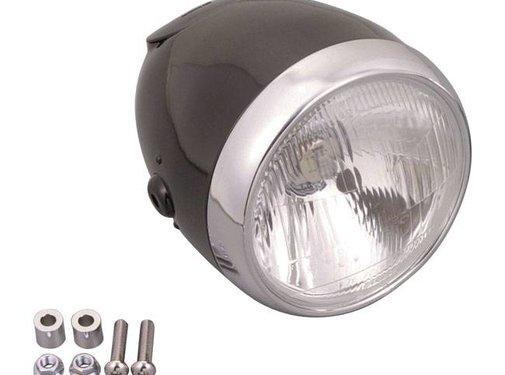 headlight Vintage 5 3/4 inch black