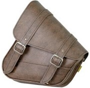 Willie + Max Luggage SWINGARM SADDLEBAG - Softail Brown