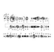 James 5 Vitesse engrenages de transmission 80-06 Shovelhead/Evo/Twincam Bigtwins