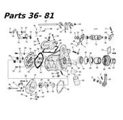 transmissie 5 speed onderdelen 80-06 Shovelhead / Evo & Twincam Big Twin nr 36-81