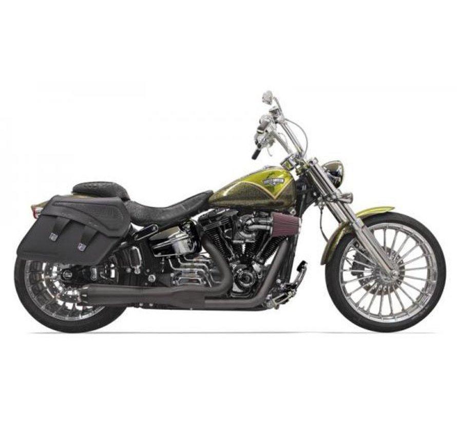 Harley Davidson Abgas Road Rage 2-in-1-System Breakout Chrom / Schwarz
