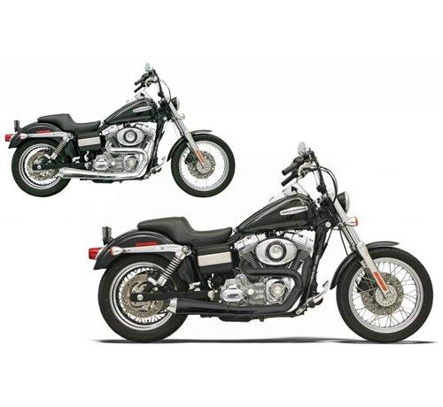 Bassani Harley Davidson Abgasroadrace 2-1 FXD Chrom / Schwarz
