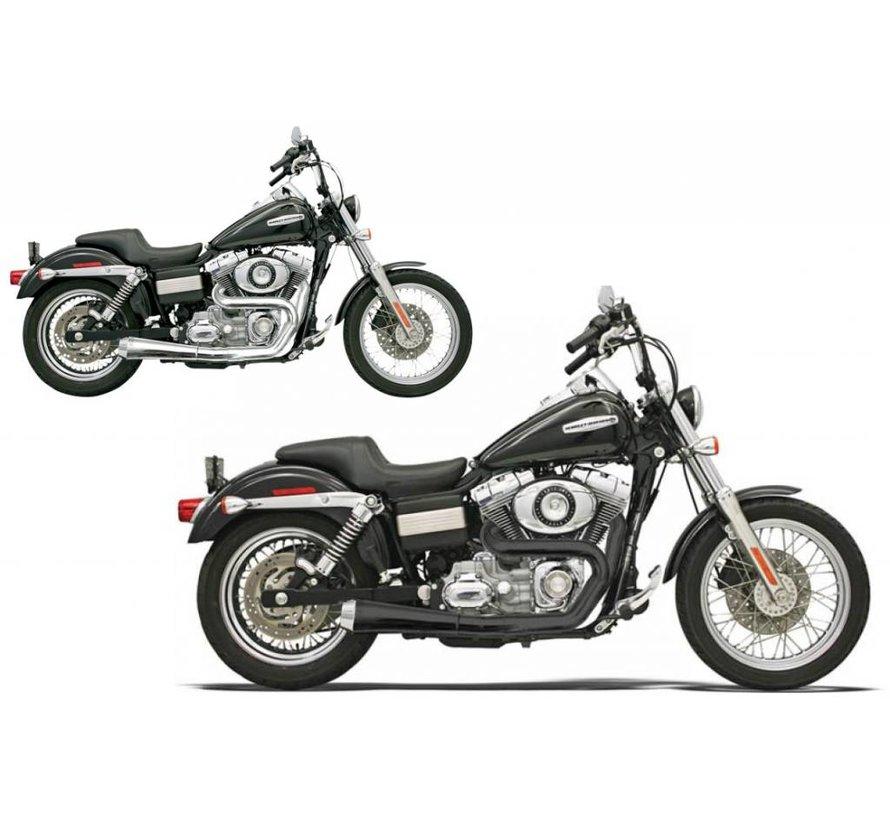 Harley Davidson Abgasroadrace 2-1 FXD Chrom / Schwarz