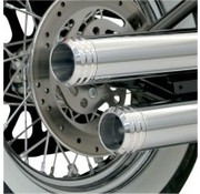 Bassani Harley exhaust ENDCAP 3 INCH POLISHED GROOVED