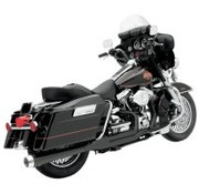 Bassani Harley uitlaat HEAT SHIELDS BLACK FLH 2-1 ROAD RAGE 2-INTO-1 SYSTEMS