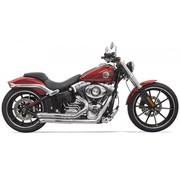 Bassani Harley exhaust Pro-Street Turn Outs for Harley Softail Breakout & Rocker