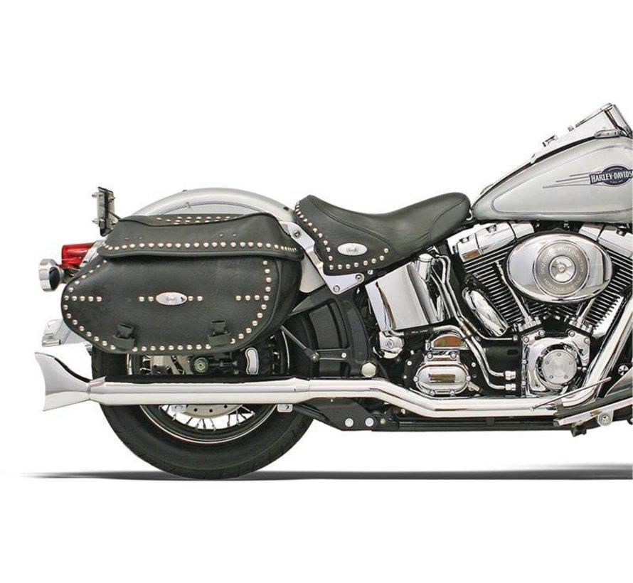 Harley Davidson Crossover-Kopfrohren Chrom - für 07-17 FXST / FLST