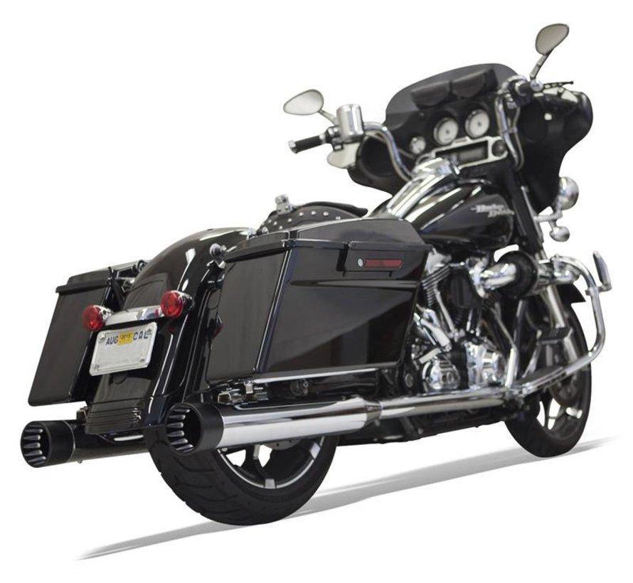 Harley Davidson MUFFLER DNTS 95-15 chrom / schwarz