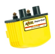 Accel ignition single fire coil SUPER - Yellow/Black/Chrome