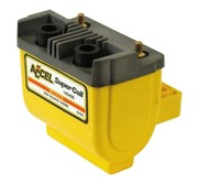 Accel HEI SUPER COIL '12V, 2.4.7 OHM. POINTS D'ALLUMAGE - noir / jaune / Chrome