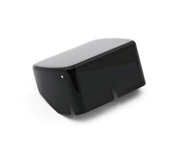 MCS Ignition Coil cover Black/Chrome plain - 84-99 Softail