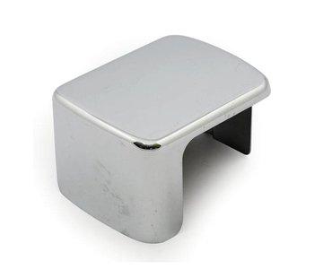 MCS Ignition Coil cover Black/Chrome plain - 00-06 Softail