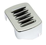 Black/Chrome Coil cover louvered - 65-86 4-Speed Bigtwin; 84-99 SOFTAIL