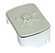 MCS chroom Coil cover schedel - 65-86 4-Speed Bigtwin; 84-99 SOFTAIL