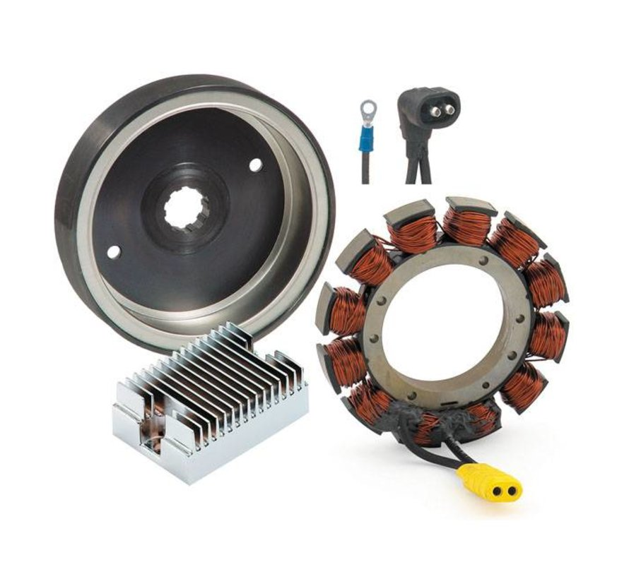 Harley Davidson Rotor / Stator / Regler Charge Kit; 91-99 Bigtwin