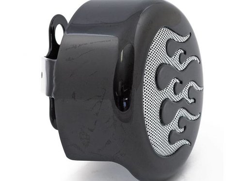 Horn cover FLAME ROUND Chrome or black