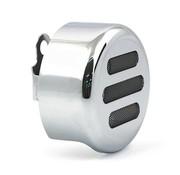 MCS 3-SLOT HORN Deckel rund verchromt oder schwarz