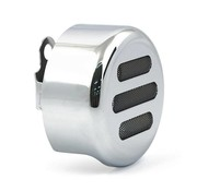 TC-Choppers Horn cover 3-SLOT ROUND Chrome or black