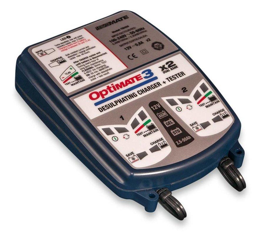 batterij OPLADER OPTIMAAL 3-2 BANKEN
