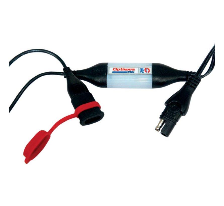 batterie Weerbestendige universele USB-oplader met 40 inch SAE-connector O102