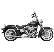 Bassani EXHAUST Road Rage HS 86-15 Softail - Chrom / Schwarz