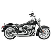 Bassani Escape Fireflight 86-15 Softail - Cromo / Negro