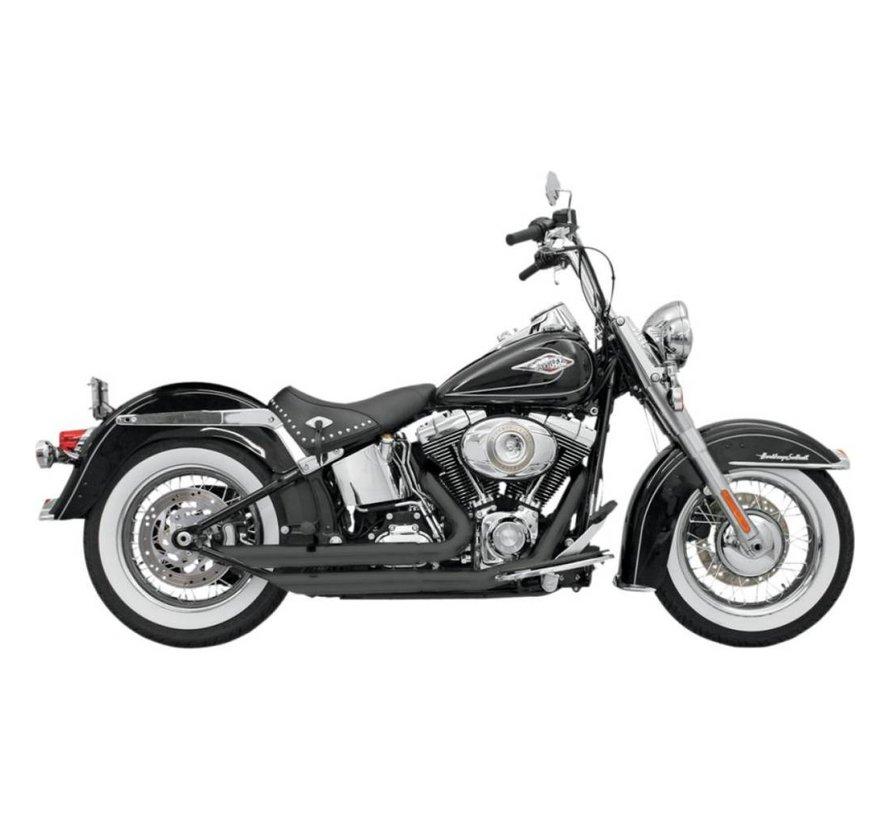Harley Davidson Auspuff Fireflight 86-15 Softail - Chrom / Schwarz
