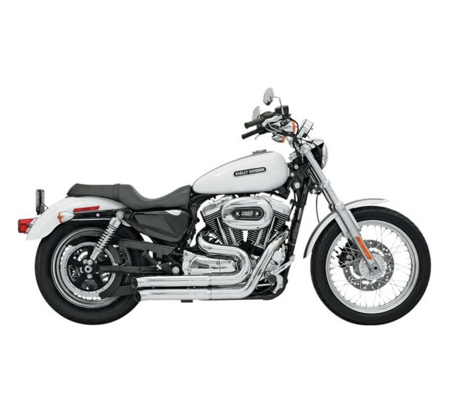 Harley Davidson EXHAUST Firesweeper 07-13 XL - Chrom / Schwarz
