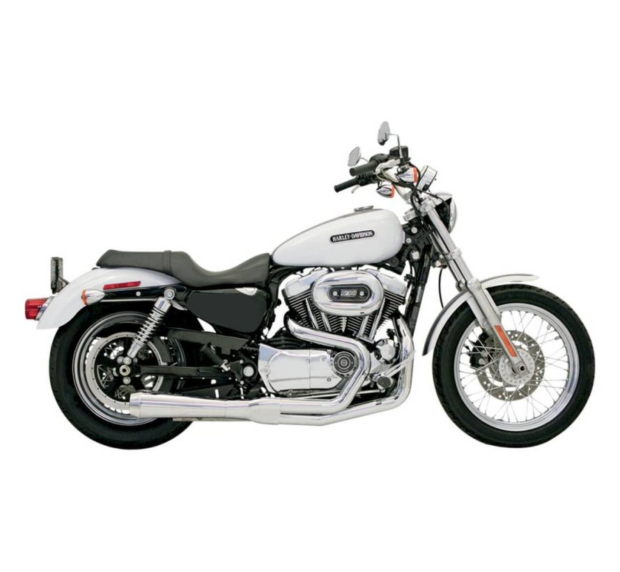 Harley Davidson Abgas Road Race 2-1 04-13XL Chrom / Schwarz