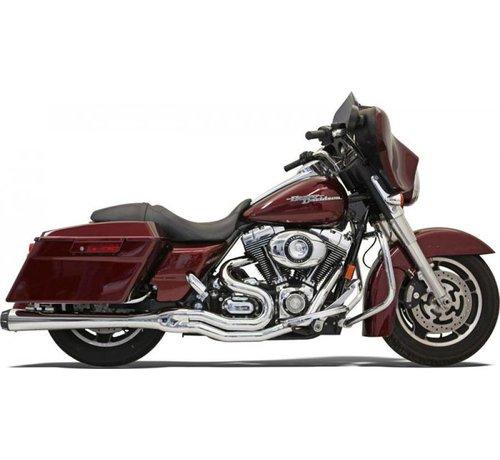 Bassani Harley Davidson Auspuff 2-1 MEGA 95-15FL Chrom / Schwarz