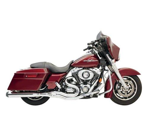 Bassani Harley Davidson Auspuff 2-1 95-15FL Chrom / Schwarz