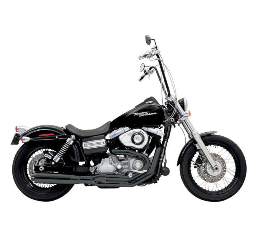 Harley Davidson Auspuff 2-1 B1 Road Rage II 91-11DYNA Schwarz / Chrom