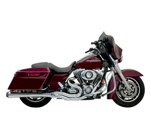 Bassani Harley Davidson Abgas B4M 95-15FL Chrom / Schwarz