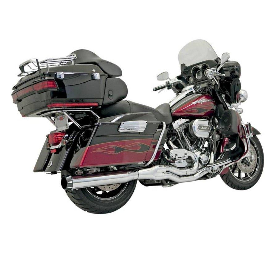 Harley Davidson Abgas B4 95-15FL Chrom / Schwarz
