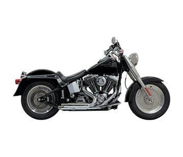 Bassani Exhaust Pro-Street Slash Cut Chrom / Schwarz - Softail86-15