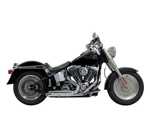 Bassani Harley Davidson Exhaust Pro-Street Slash Cut Chrom / Schwarz - Softail86-15