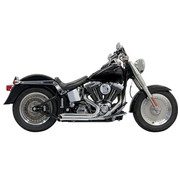 Bassani exhaust  Pro-Street Turn Out Chrome/Black - Softail86-15