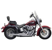 Bassani Abgas Road Rage II Mega Power Chrom / Schwarz - Softail86-15