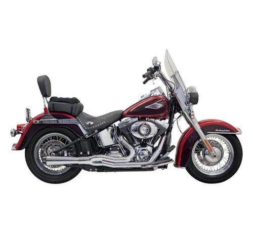 Bassani Harley Davidson Abgas Road Rage II Mega Power Chrom / Schwarz - Softail86-15