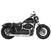 Bassani uitlaat Road Rage II Mega Power 2-1 chroom / Black Sportster XL