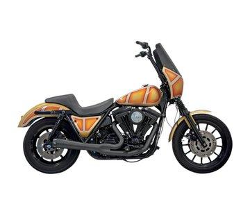Bassani Auspuff Road Rage 2-1 Chrom / Schwarz Passend für:> HD FXR-Modelle
