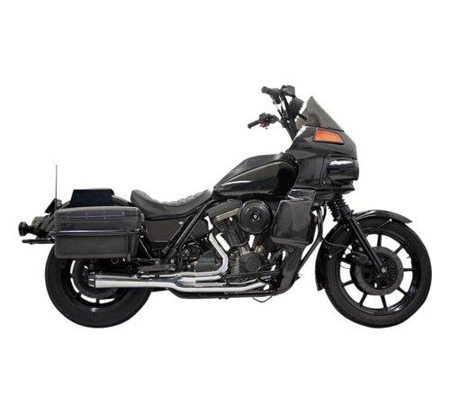 Bassani Harley Davidson Abgasroadrace 2-1 EVO FXRT Chrom / Schwarz