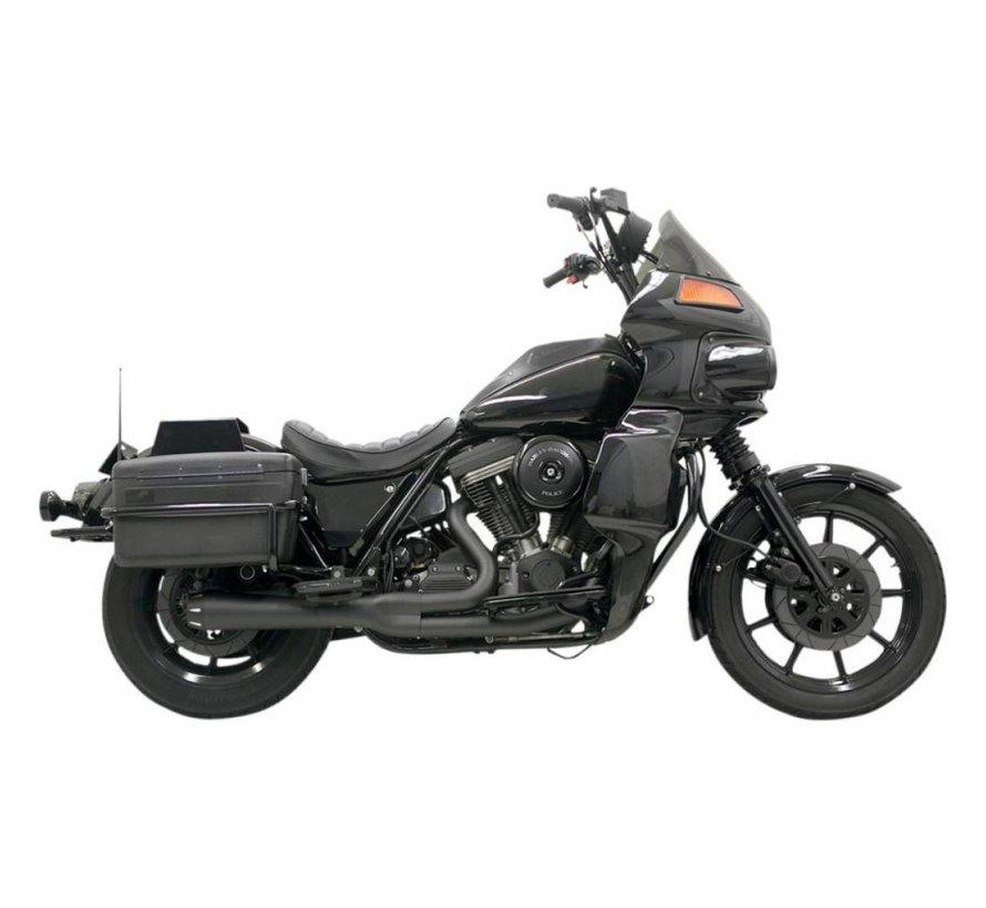 Harley Davidson Abgasroadrace 2-1 EVO FXRT Chrom / Schwarz