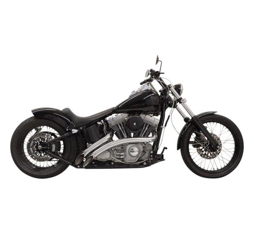Harley Davidson Auspuff-Radial-Kehrmaschinen 86-15 chrom / schwarz - Softail / FLD / Dyna