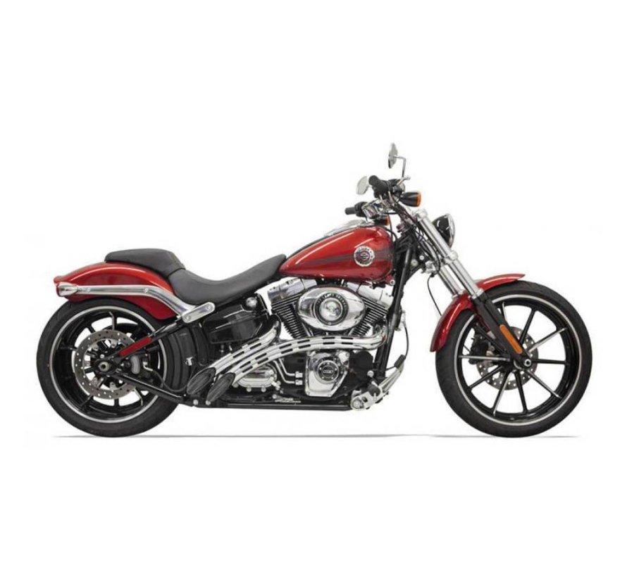 Harley Davidson Auspuff-Radial-Kehrmaschinen 86-15 schwarz / chrom