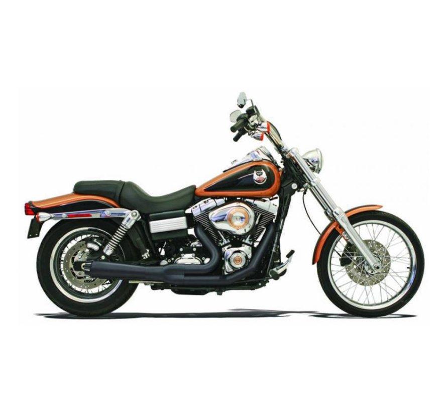 Harley Davidson Auspuff 2-1 Road Rage HS 91-05FXD Chrom / Schwarz