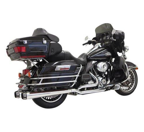 Bassani Harley Davidson erschöpfen Down Under MEG 09-15 Chrom / Schwarz