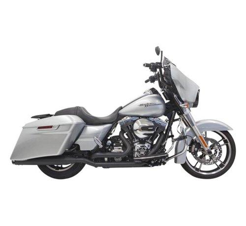 Bassani Harley Davidson Abgasdownunder 4inch 09-15FLH / FLT Chrom / Schwarz